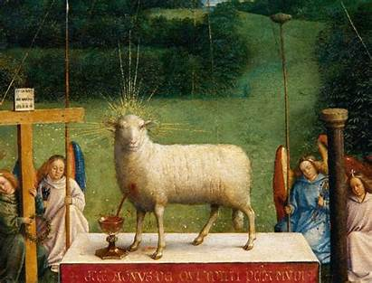 Lamb Eyck Lam Ghent Gods Adoration Mystic