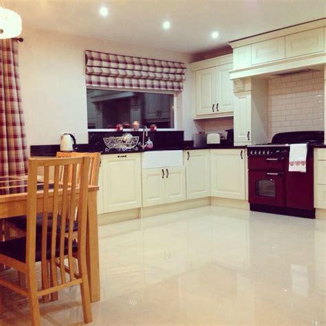 design small kitchen kitchen tartan blind and cranberry rangemaster blinds 3207