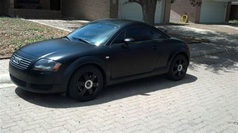 find   audi tt quattro base coupe flat black