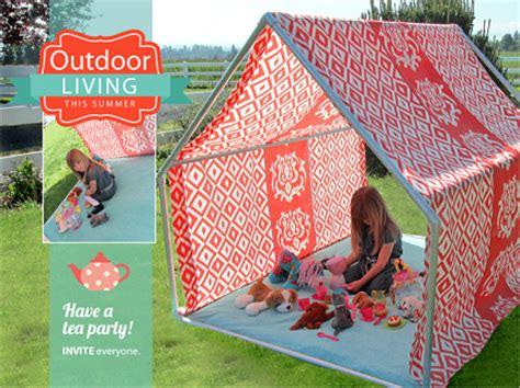 tutorial diy outdoor playhouse tent sewing