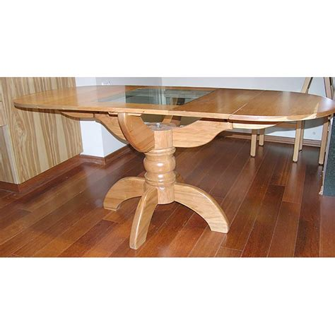 pedestal style solid wood dining table bass furniture