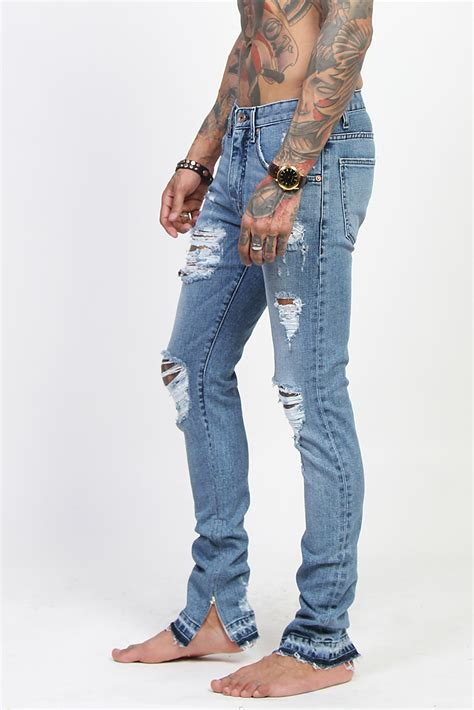 Mens Ankle Zip Jeans - Oasis amor Fashion