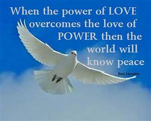 WORLD PEACE QUO... Power Of Calmness Quotes