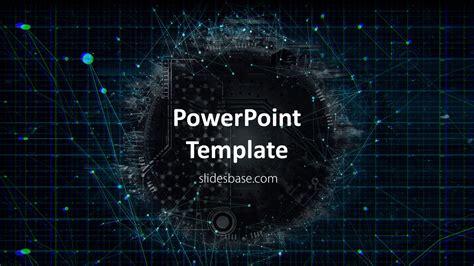 technology network powerpoint template slidesbase