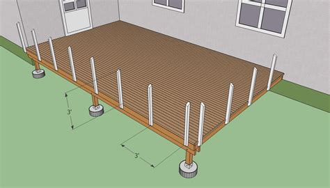 Trex Decking Support Spacing by Deck Post Railing Spacing Deck Design And Ideas