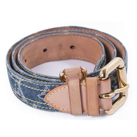 louis vuitton blue denim monogram belt cm pre owned designer bags fashion accessories