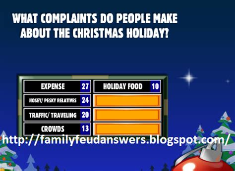 family feud christmas survey pictures to pin on pinterest