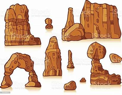 Rock Formation Clipart Arch Desert Delicate Vector