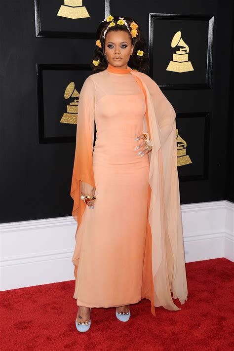 Andra Day on Red Carpet - GRAMMY Awards in Los Angeles 2 ...