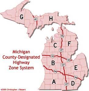 Michigan Highway Map