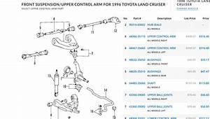 Oem Toyota Parts Catalog  Diagram