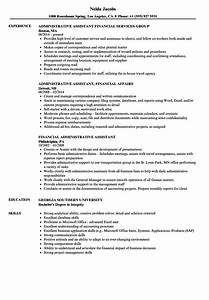 Financial Administrative Assistant Resume Samples
