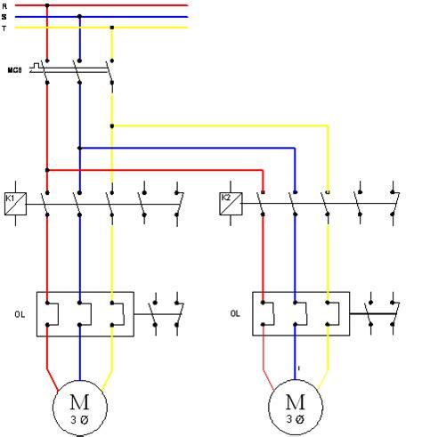 teknik instalasi tenaga listrik kontrol motor listrik 3 fasa delta