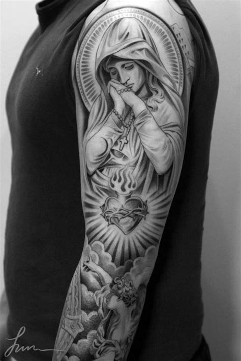 Full sleeve angel tattoo by the Swedish ink master, Niki Norberg. Description from pinterest.com