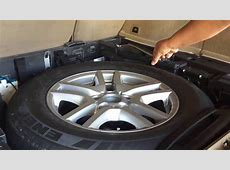 BMW special helps & extras in spare wheel tire change How