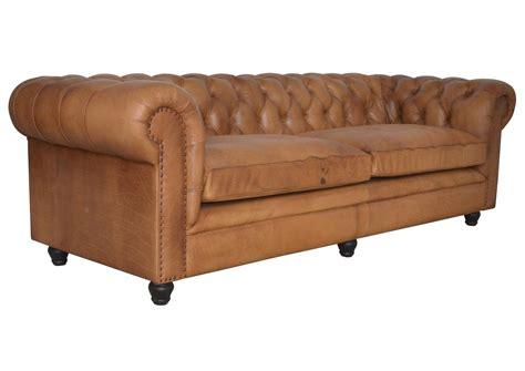 acheter votre canapé chesterfield en cuir cognac finition