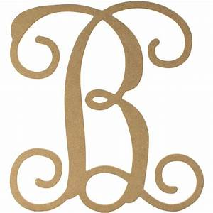 12quot wood letter vine monogram b ab2197 craftoutletcom With vine monogram wood letters