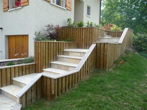 les res d escalier terrasse escalier en pierres naturelles granit jaune terrasse en bois