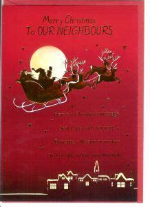 merry christmas neighbors card christmas neighbours english greeting cards in