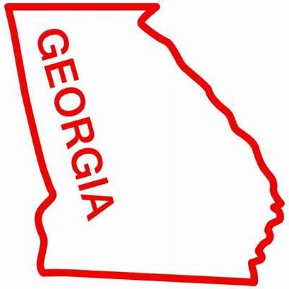 Georgia Outline State Decal Sticker Clip Window