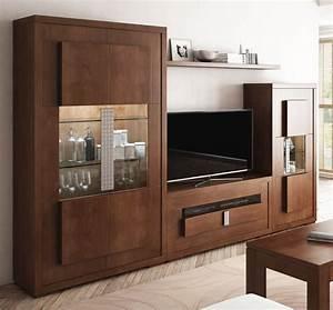 Mobiliario de salón con vitrina 2 puertas y mueble de tv para salones modernos