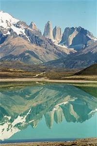 REFLECTED VIEW OF THE TORRES DEL PAINE TORRES DEL PAINE CHILE