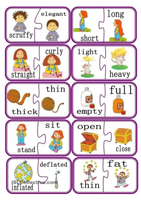opposites  images english classroom learn