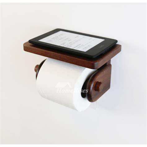 Wall Mount With Shelf by Wooden Toilet Paper Holder Wall Mount With Shelf