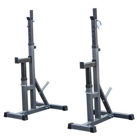 squat bench rack 2pcs adjustable rack standard steel squat stands barbell