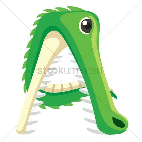 letter   alligator vector image  stockunlimited