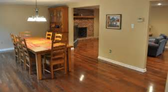 floor l in dining room brazilian walnut pictures one project closer
