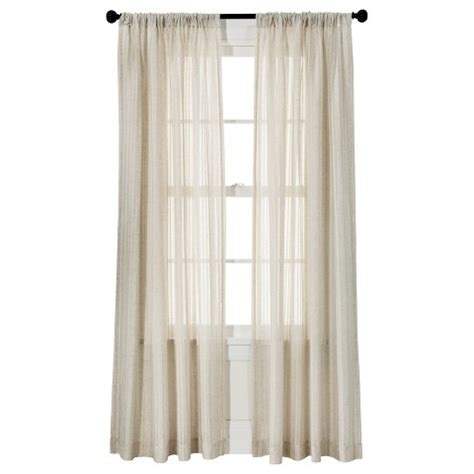 threshold leno weave sheer curtain panel target