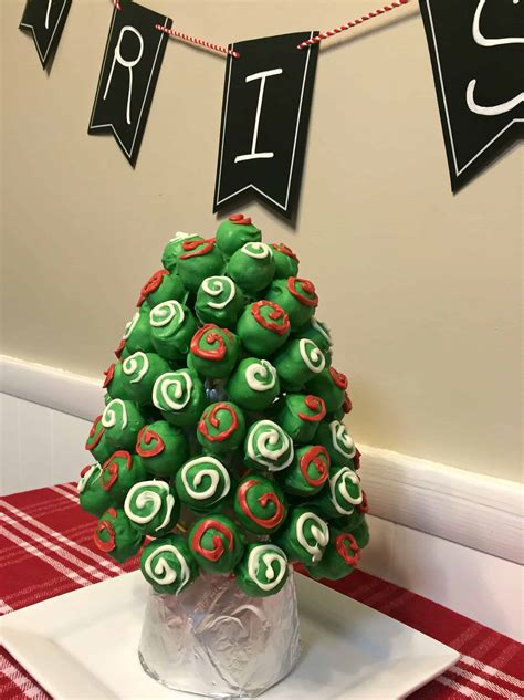 oreo cookie balls christmas tree mom  chocolate