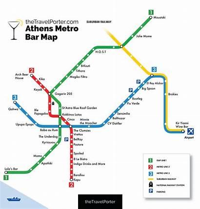 Metro Athens Map Bar Greece Ultimate Train