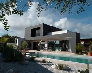 photos d39architecture et idees deco de facades de maisons With maison de la fenetre 0 maison contemporaine dompierre sur mer
