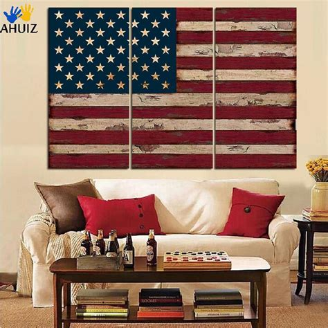 american flag canvas wall 3panel american usa united states of america flag canvas 7434