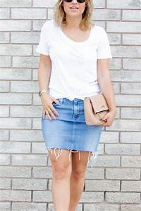 Summer outfit idea with a denim skirt | Something About That
