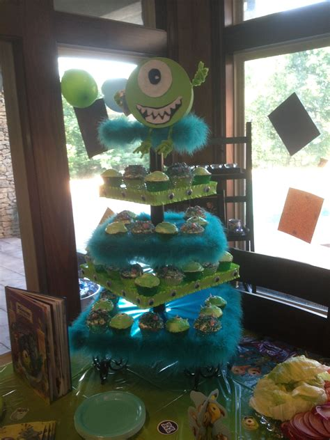 monsters  mike  sulley cupcake stand   birthday