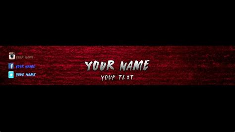 banner template de ts3 red banner template photoshop cc youtube