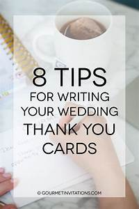 8 tips for writing your wedding thank you cards gourmet With wedding thank you cards when to send out