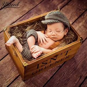 Baby Casquette Cap Little Gentleman Outfit Newborn Photography Props Newborn Plaid Costume for ...