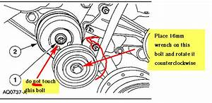 The Drive Belt Tensioner Has A Tork Style Relief Access