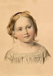 vintage portrait of stunning strawberry blond child image