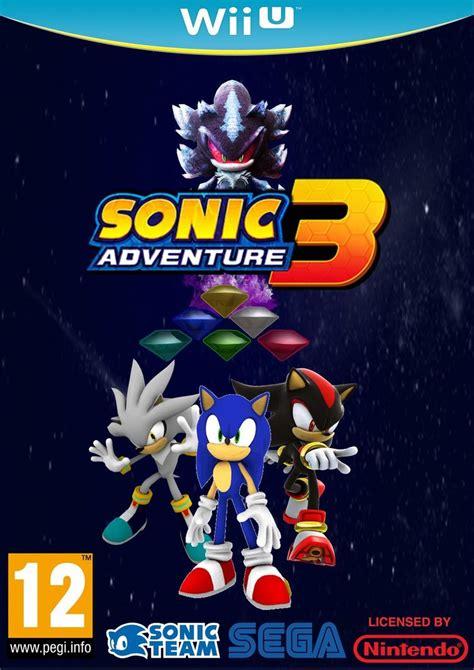 sonic fan made games sonic adventure 3 wii u box art fan made by