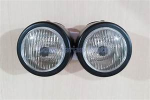 Jual Lampu Depan Twin Mini Reflektor Headlamp Motor Black