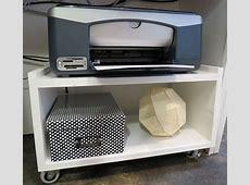 Simple underdesk rollie cart for printer Great idea