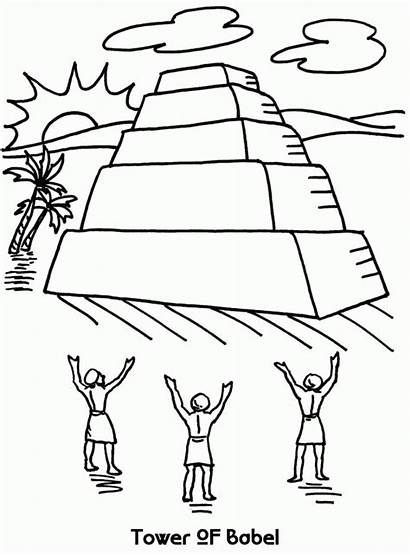 Babel Tower Coloring Pages Sheet Template Genesis