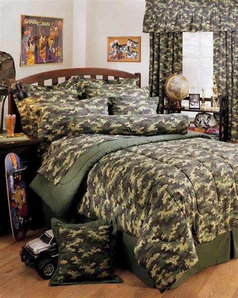 Creative Ideas With Camouflage Bedroom Interior Decoration