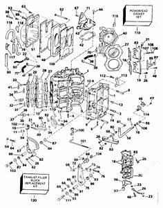 Johnson 1992 115 - J115tlend  Cylinder  U0026 Crankcase