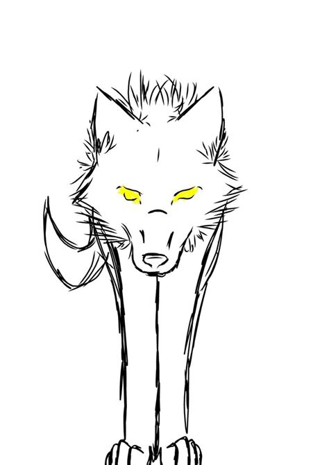 simple wolf sketches clipart
